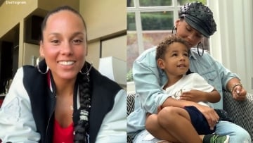 Alicia Keys and son on Instagram