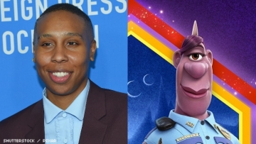 Lena Waithe and a character she plays.