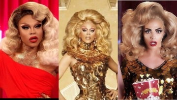 RuPaul and contestants from Drag Race.
