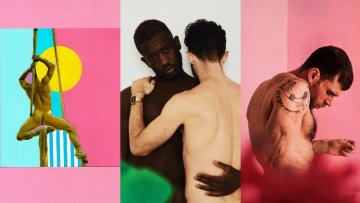A triptych of art from gay artists.
