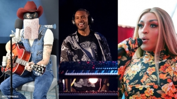 A triptych of Coachella performers.