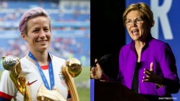 Megan Rapinoe and Elizabeth Warren