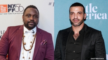 Brian Tyree Henry and Haaz Sleiman on the red carpet.