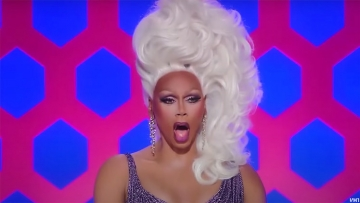 RuPaul judging on Drag Race.