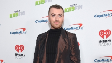 Sam Smith on red carpet.