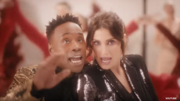 Billy Porter and Idena Menzel