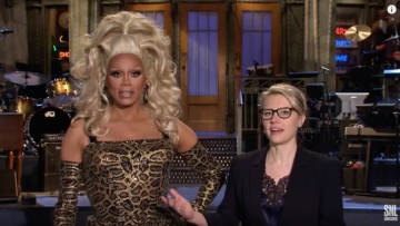 RuPaul in drag in a teaser for Saturday Night Live