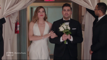 Alexis and David at Schitt's Creek wedding