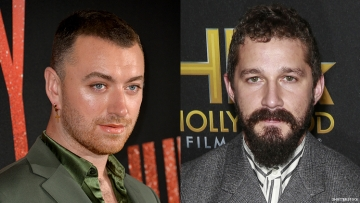 A diptych of Shia LeBeouf and Sam Smith.