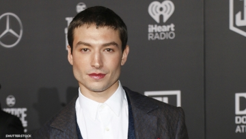 Ezra Miller on a red carpet.
