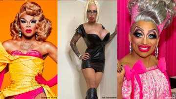 A triptych of drag queens for DragCon.