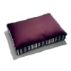 Amethyst ribbed faille-cloth dog bed