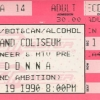 Concert Ticket from the 90s