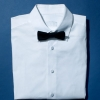 Cotton Poplin Tuexedo Shirt & Silk Bow Tie