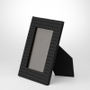 Nero Intrecciato Nappa Medium Photo Frame