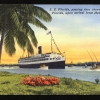 """""""S.S. Florida passing thru channel at Miami, Florida, upon arrival from Havana, Cuba: 504"""""""