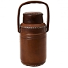Leather thermos with handle