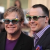 Elton John, 68, and David Furnish, 53
