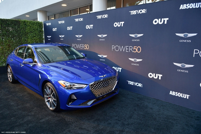 The Gensis G70 at OUT Magazine's Power 50 Award & Celebration Presented By Genesis at NeueHouse Los Angeles