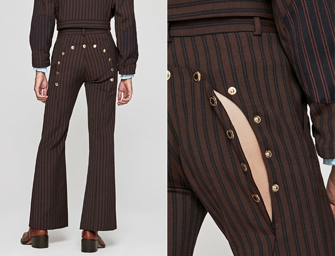 Bordeaux Ass Air Trousers around $350