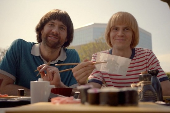 Billy Eichner and Evan Peters in 'American Horror Story: Apocalypse'