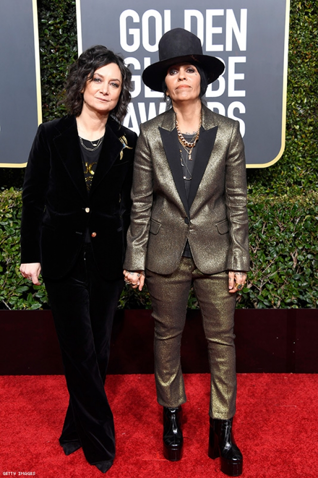 Linda Perry and Sara Gilbert: