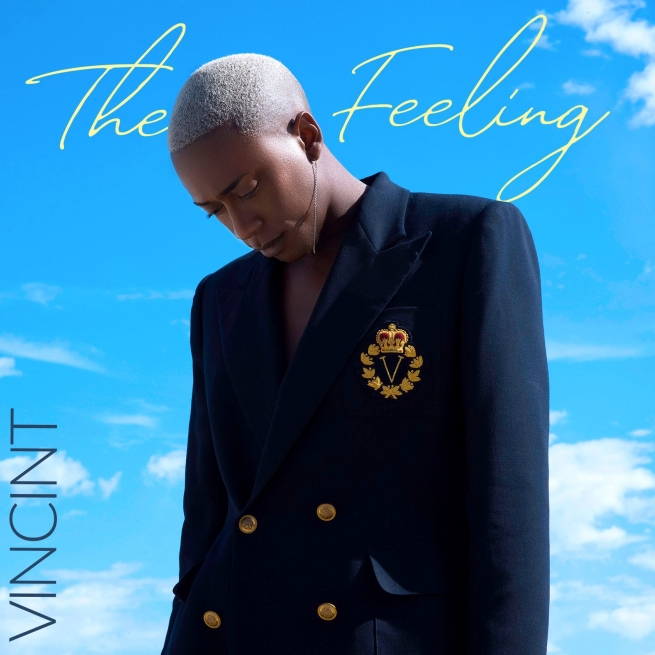 VINCINT in his debut album cover for The Feeling
