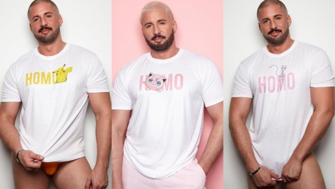 A triptych of guys in t-shirts.
