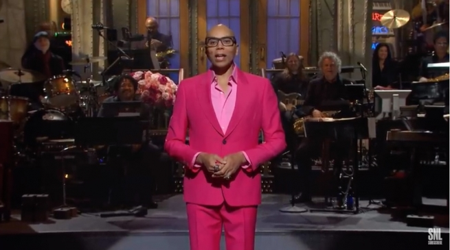 RuPaul's opening monologue on Saturday Night Live