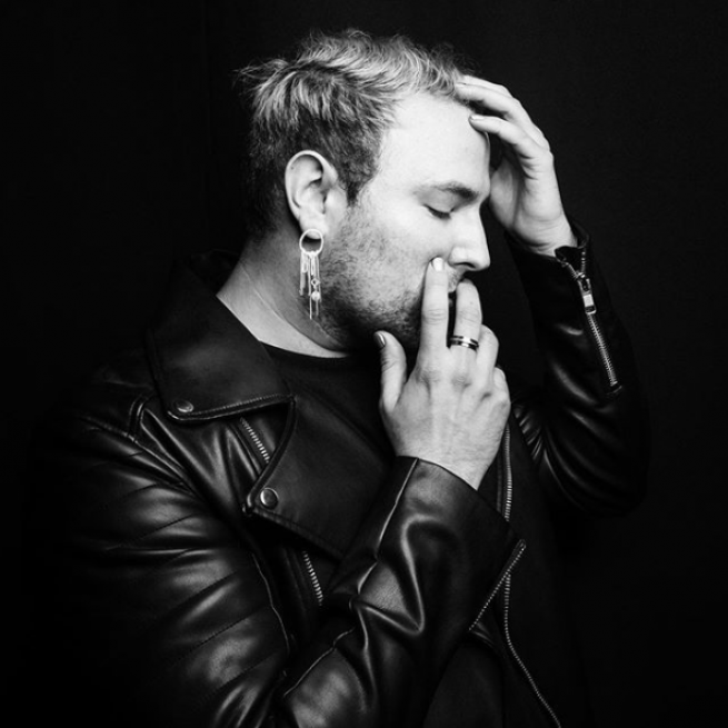 Morgxn in a black and white promotional photo.